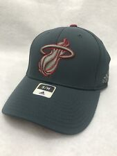 645dcc1d5c2 Miami Heat Adidas Gray NBA Flexfit Hat Cap size S M