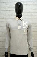 Polo Uomo MURPHY & NYE Taglia M Maglia Maglietta Camicia Shirt Man Cotone Grigio