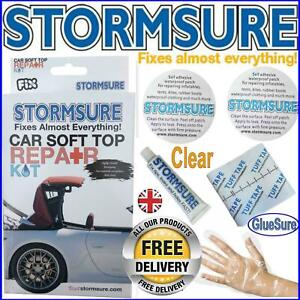 Soft Top Car Roof Convertible Repair Kit Include Patches & Glue Stormsure UK
