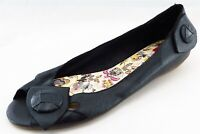 BC Footwear Ballet Flats Black Leather Women Shoes Size 10 Medium (B, M)