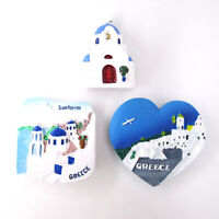 Greece Church Fridge Magnet Sticker Country Tourism Souvenir 3D Resin Home Decor