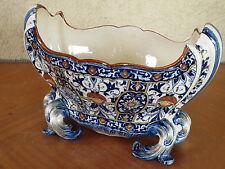 Ancienne bouquetière GIEN centre de table jardinière décor ancien french antique