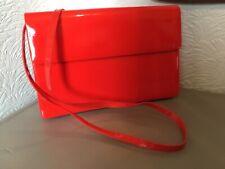 Beautiful Vintage Italian Lipstick Red Patent 1980s HandBag/Clutch #5540