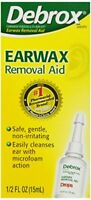 3 Pack Debrox Earwax Removal Drops microfoam action 0.5 Fluid Ounce Each