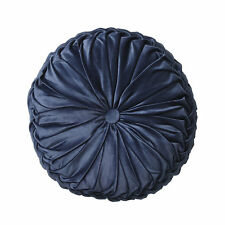 LOGAN AND MASON TEMPO Vintage Glamour Velvet CADET Blue Square Filled Cushion