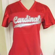 NWOT Cardinals Arizona St Louis Red Women Lg Fitted Jersey Bling Football  NFL 34e38e2623