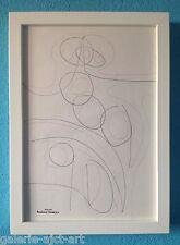Raymond TRAMEAU Dessin Encadré 1960 Abstraction constructiviste Arp Organique