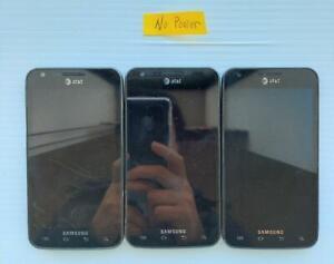 Lot of 3 Samsung Galaxy S2 Skyrocket SGH-I727 (AT&T) Smartph..  - Fast Shipping!