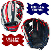 "Wilson A2000 USA Country Pride 1786 Model 11.5"" Infield Baseball Glove"