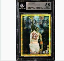 Michael Jordan 1996 Topps Finest Gold Atomic Refractor BGS 8.5 centered!!!