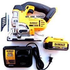 DeWalt DCS331 20V Cordless Speed Jig Saw,(1) DCB204 4.0 Battery, Charger 20 Volt