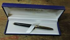 Vintage Deluxe Black Silver Gold Trim WATERMAN CARENE Rollerball Pen France +BOX