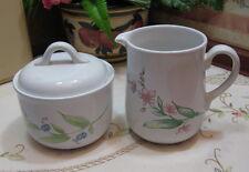 "Corelle Coordinates ""My Garden"" Sugar Bowl with Lid and Creamer Set"