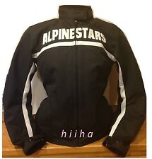 Alpinestars Stella Barcelona Motorcycle Women Jacket Black New Large $199
