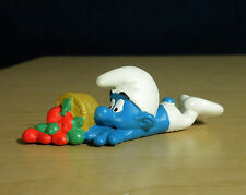 Smurfs Clumsy Smurf Apple Basket Am Limes Re-issue Figure Toy PVC Vintage 20161