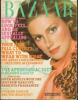SEPT 1974 vintage HARPERS BAZAAR fashion magazine STEPHANIE LOUISE