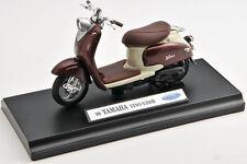 BLITZ VERSAND Yamaha Vino YJ50R 1999 braun Welly Motorrad Modell 1:18 NEU Roller