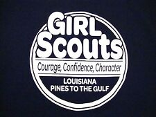 Girl Scouts Courage Confidence Character Louisiana Pines To The Gulf T Shirt S
