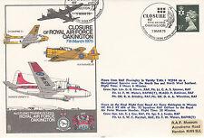 error C37a Closure of RAF Oakington with 2 Postmarks