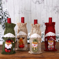 Christmas Wine Bottle Cover Snowman Santa Claus Elk Wine Bags Xmas Table Dec L*s