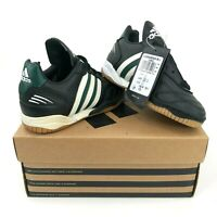 Vintage adidas Gammanova IN J Kids Boys 10.5K Indoor Soccer Shoes Black Green