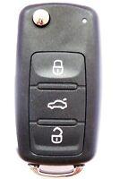 Auto Klapp Schlüssel Fernbedienung Leergehäuse 3 Tasten für VW SKODA SEAT HAA
