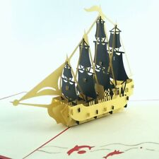 SHIP pop-up greeting card (beautiful & unique gift/decor/art)