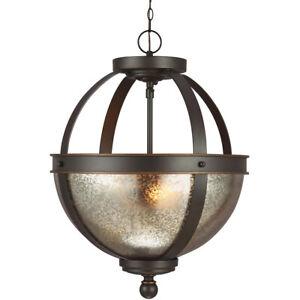 Sfera 2 Light 14 inch Autumn Bronze Semi-Flush Convertible Pendant Ceiling Light