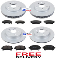 VAUXHALL INSIGNIA 1.6 1.8 2.0CDTi 08- FRONT & REAR BRAKE DISCS & PADS CHECK SIZE