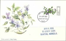 First Day of Issue Flowers Great Britain Stamp Covers