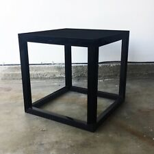 Jonathan Adler Black Lacquer Cube Table 18""