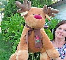 LARGE Out Of Production Toys R Us Reindeer Plush Stuffed Animal Doll