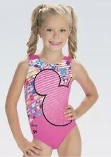 NWT GK Elite Disney Mickey Mouse Pink Neon Gymnastics Leotard Child Sizes
