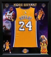 Kobe Bryant Hand-Signed #24 LA Lakers Yellow Jersey, Framed