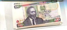 KENYA 2009 100 SHILLINGS CURRENCY NOTE  LOT OF 5 CU 2927J
