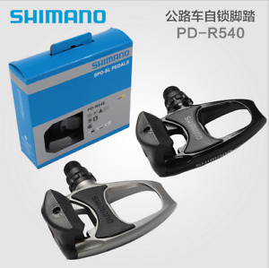 Shimano PD-R540- SPD SL Clipless MTB Road Bike Pedals + Cleats - Silver/Black