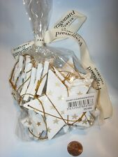 18 NEW FRAGONARD PERFUME CHRISTMAS TREE ORNAMENT WHITE GOLD HOLIDAY DECOR STARS