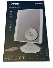 iHome Reflect Vanity Mirror with Bluetooth Speaker, USB Charger - White  ICVB22
