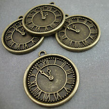 4 Antique Gold Plated Watch Charms Kitsch Bronze Alice