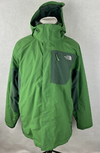 The North Face Men's XL HyVent Hooded 3-in-1 Snow Ski Jacket Green XL