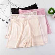 3pcs women's real silk underwear safety pants super cozy Boxer briefs knickers