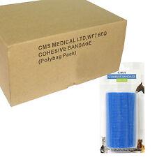 Full Box of 10cm Self Adhesive Cohesive Bandage Elastic Support Roll Wrap Blue