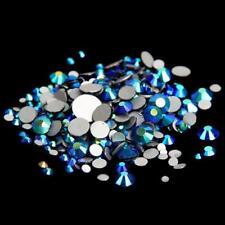 No hotfix ab Pedrería Piedras de Cristal Flatback 3d Arte en Uñas Puntas Decoración