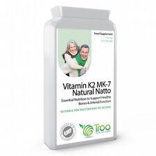 Vitamin K2 MK7 Natural Natto 100mcg 120 Capsules - Vit K Bone and Joint Support