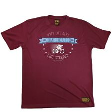 Sale When Life Gets Complicated I Go Cycling Breathable Sports T-Shirt Present