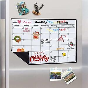 Magnetic Calendar Dry Erase Whiteboard Fridge 2021 Weekly Monthly Planner 43x30c