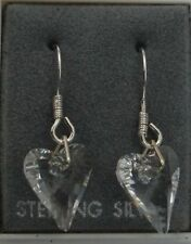Unbranded Heart Crystal Costume Earrings