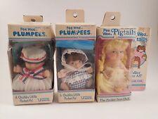 Lot / Vintage Uneeda Pee Wee Dolls Plumpees & Pigtails Pocket Pal Dolls w/ Boxes