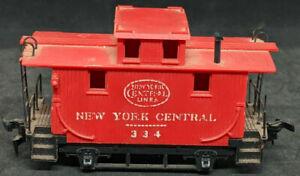 MANTUA: New York Central #334 Red BOBBER CABOOSE, Old Time,  VINTAGE HO