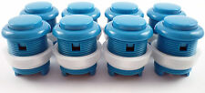 8 x 28mm Round Convex Curved Arcade Push Buttons & Microswitches (Blue) - MAME
